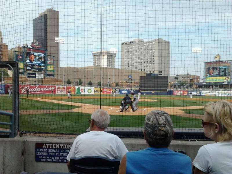 Seating view for Fifth Third Field Section 111 Row E Seat 6