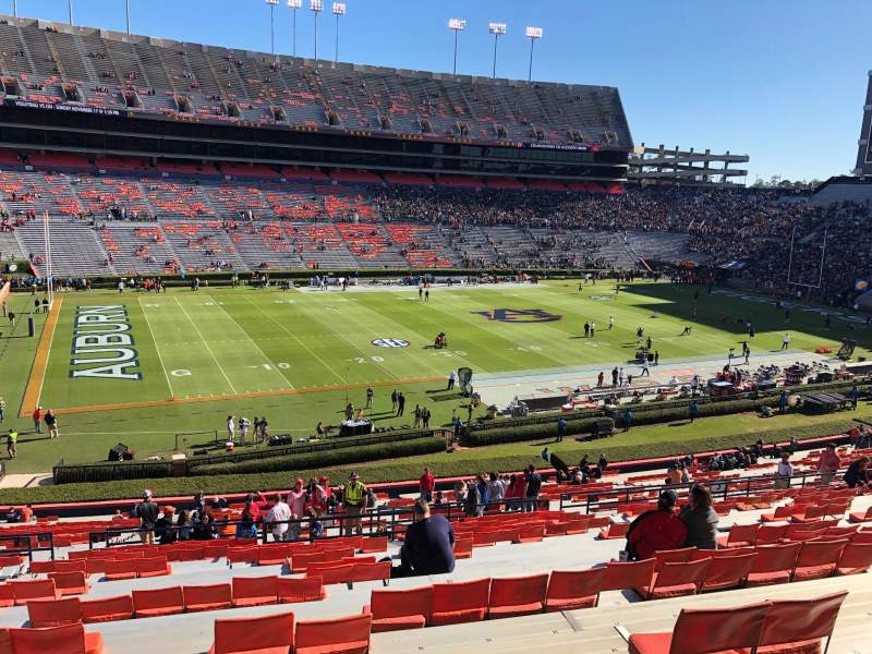 Seating view for Jordan-Hare Stadium Section 2 Row 50 Seat 19-20