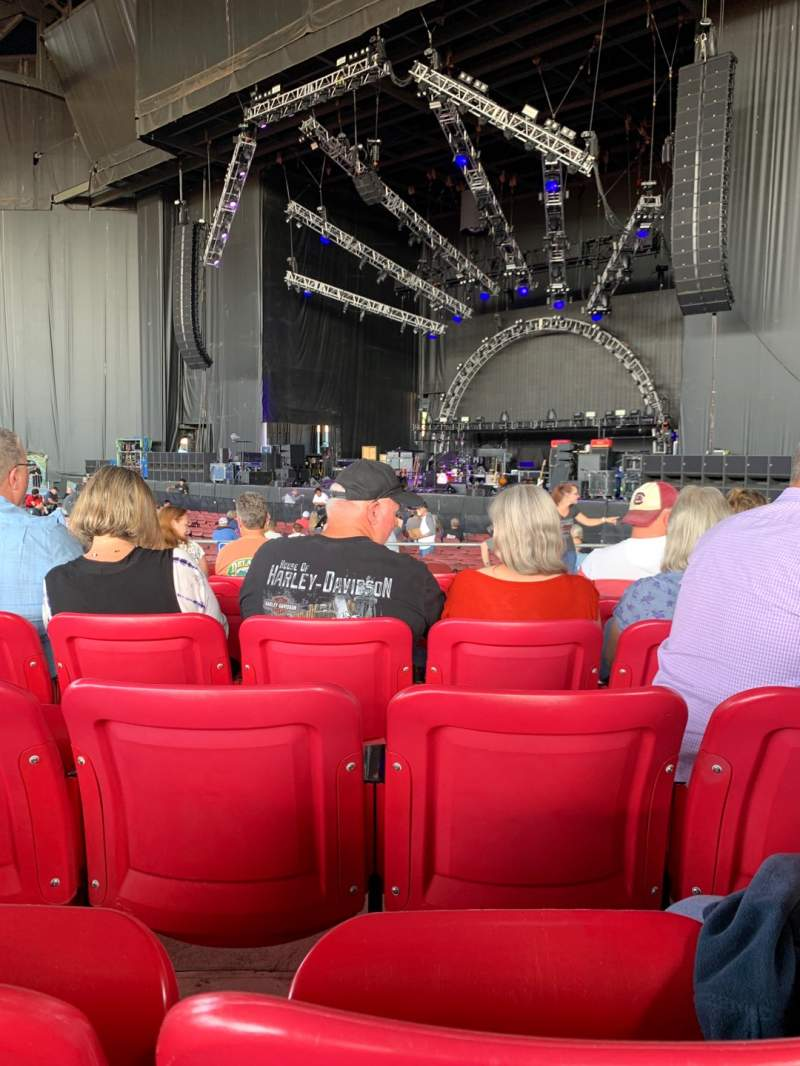 Seating view for White River Amphitheatre Section 101 Row 8 Seat 19