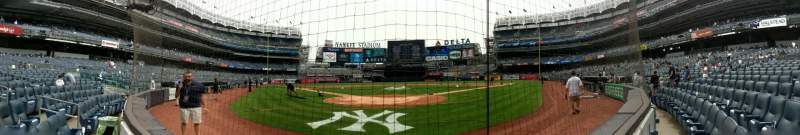 Seating view for Yankee Stadium Section 020 Row 1 Seat 1