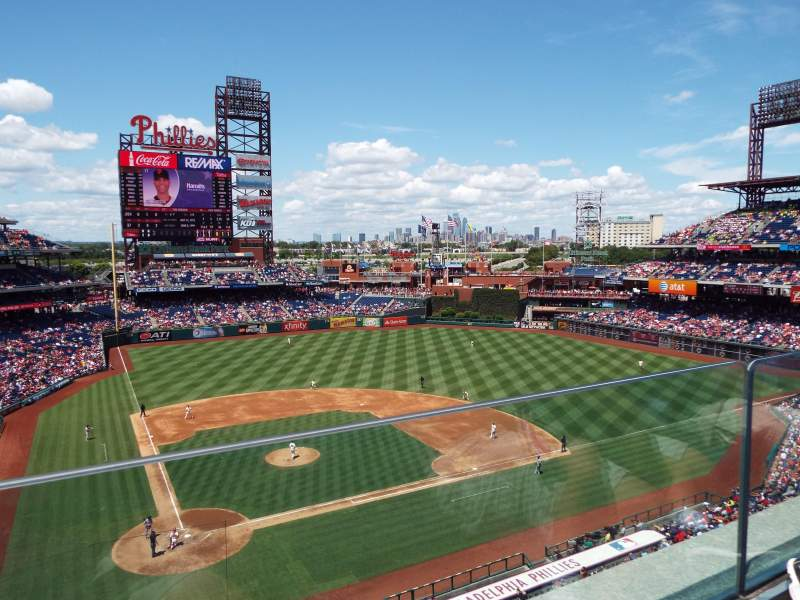 Seating view for Citizens Bank Park Section 317 Row 1 Seat 20