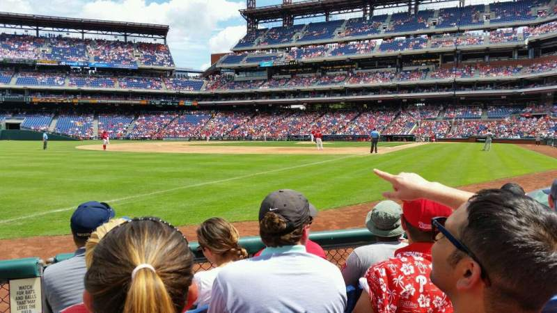 Seating view for Citizens Bank Park Section 137 Row 4 Seat 9