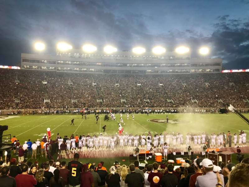 Seating view for Bobby Bowden Field at Doak Campbell Stadium Section 11 Row 19 Seat 26