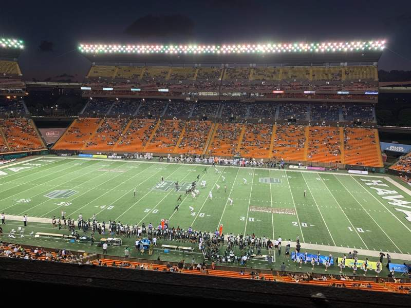 Seating view for Aloha Stadium Section Mauka Brown MM Row 1 Seat 7