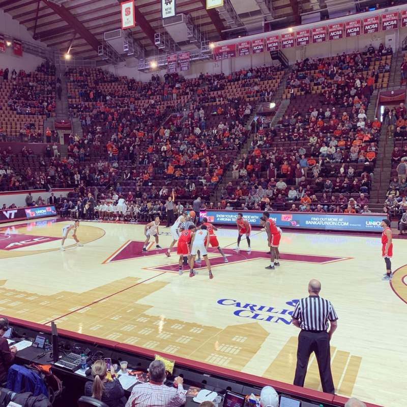 Seating view for Cassell Coliseum Section 9 Row D Seat 8