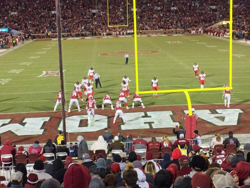 Seating view for Gaylord Memorial Stadium Section 44 Row B Seat 20