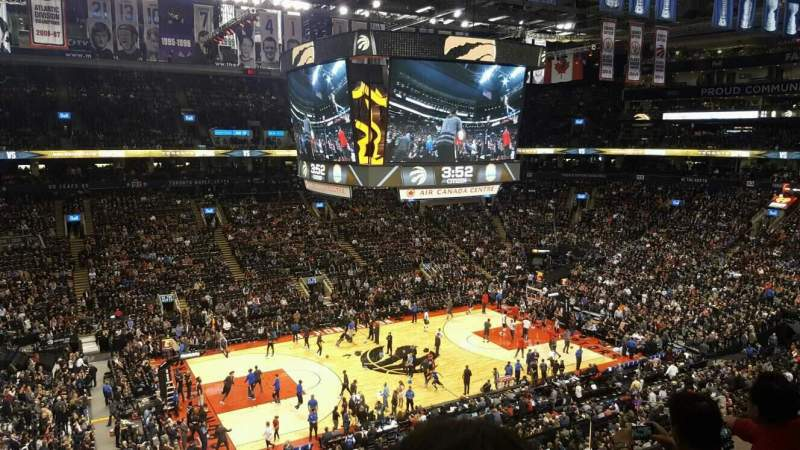 Seating view for Air Canada Centre Section 323 Row 3 Seat 1