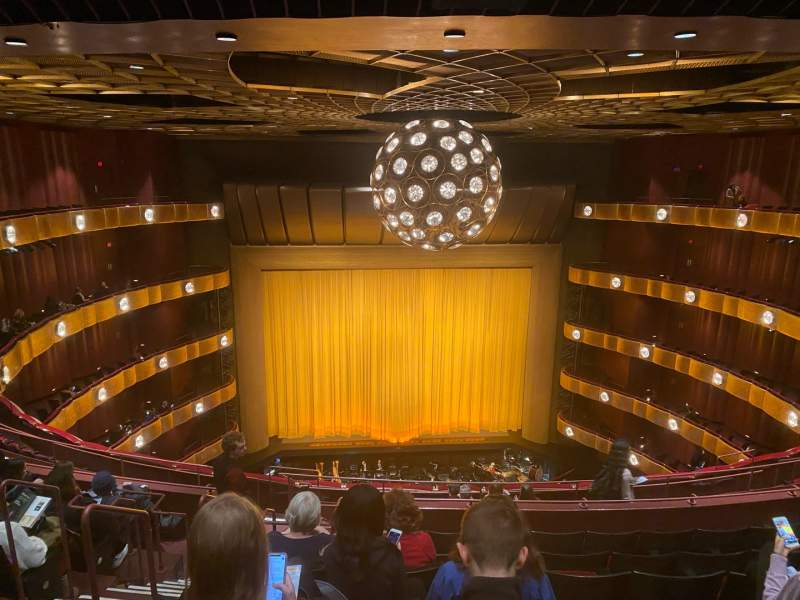 Seating view for David H. Koch Theater Section Fourth Ring Row J Seat 104