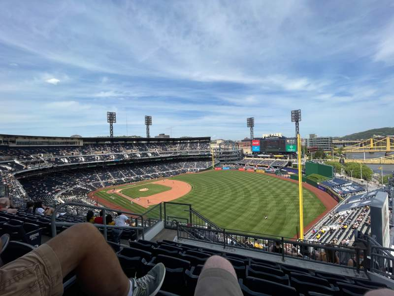 Seating view for PNC Park Section 301 Row X Seat 8