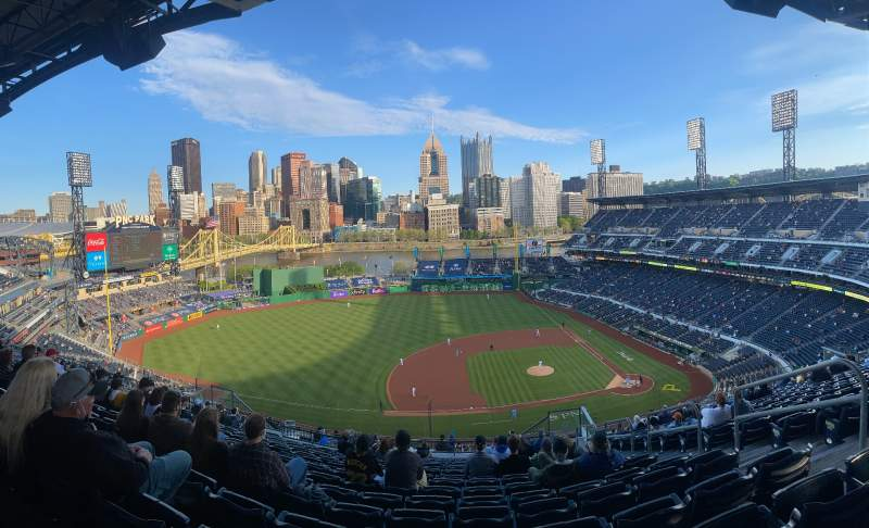 Seating view for PNC Park Section 323 Row X Seat 20