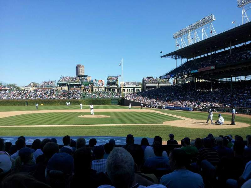Seating view for Wrigley Field Section 13 Row 14 Seat 13
