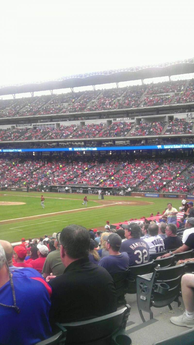Seating view for Globe Life Park in Arlington Section 16 Row 17
