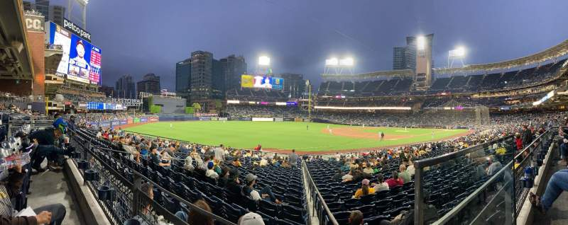 Seating view for PETCO Park Section 120 Row 27 Seat 1