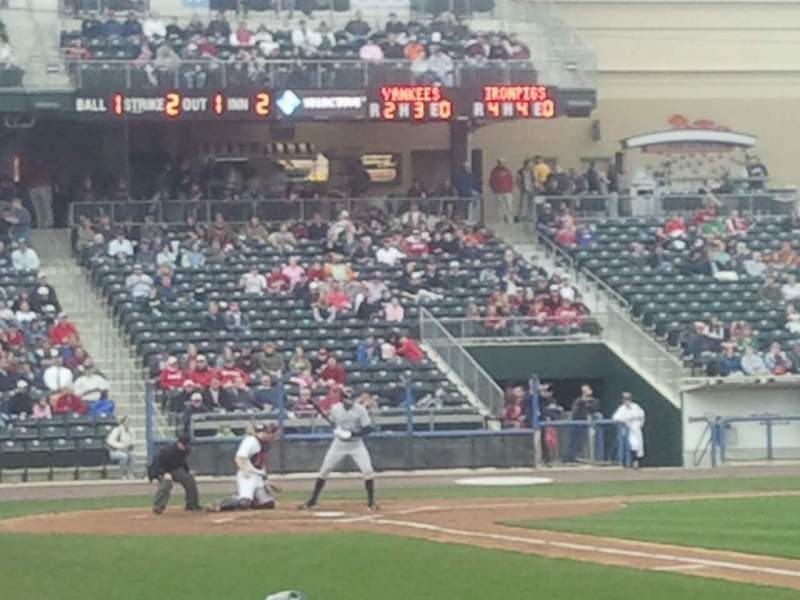 Seating view for Coca-Cola Park Section 105 Row H Seat 10