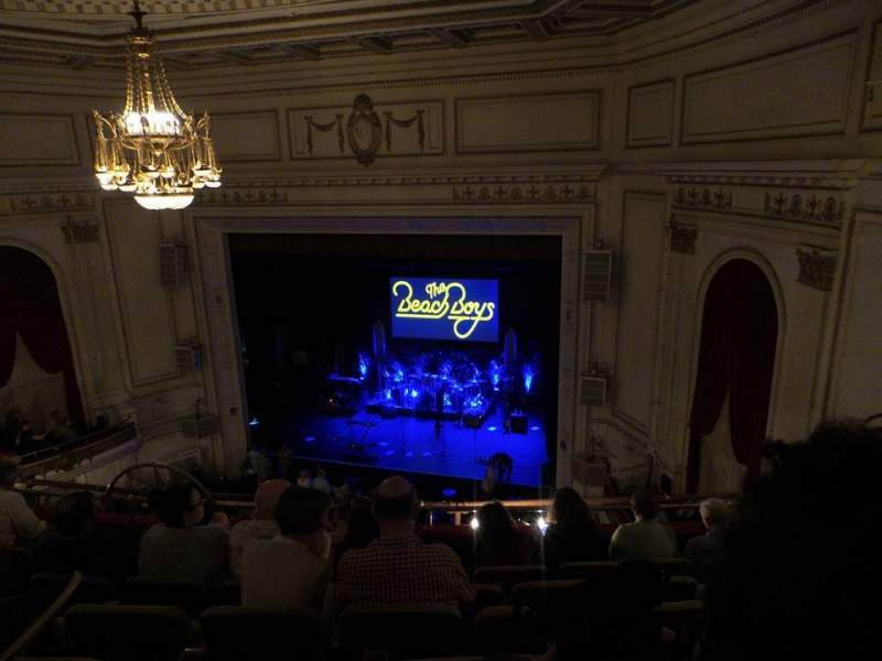 Seating view for Wilbur Theatre Section Balcony Row F Seat 16