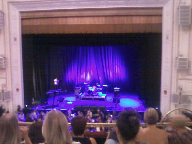 Seating view for Wilbur Theatre Section Mezzanine Row E Seat 103