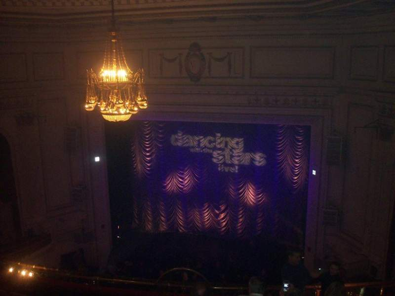 Seating view for Wilbur Theatre Section Balcony Row H Seat 8