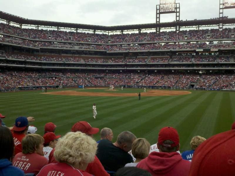 Seating view for Citizens Bank Park Section 102 Row 6 Seat 10