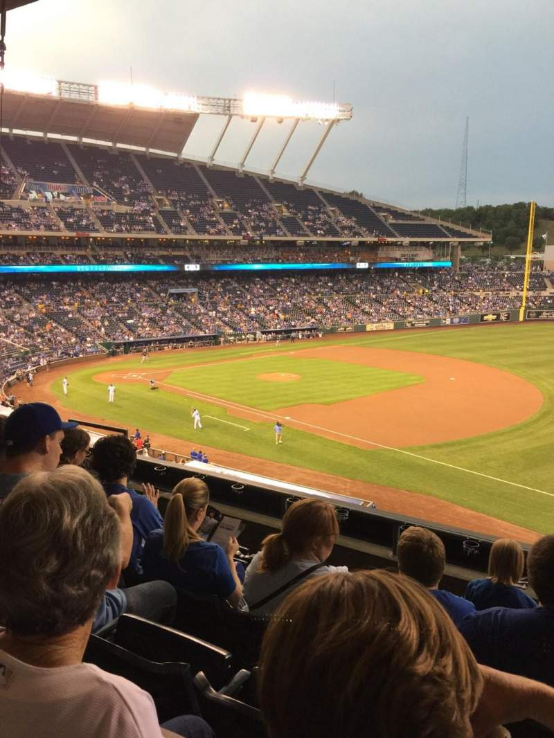 Seating view for Kauffman Stadium Section 321 Row F Seat 10