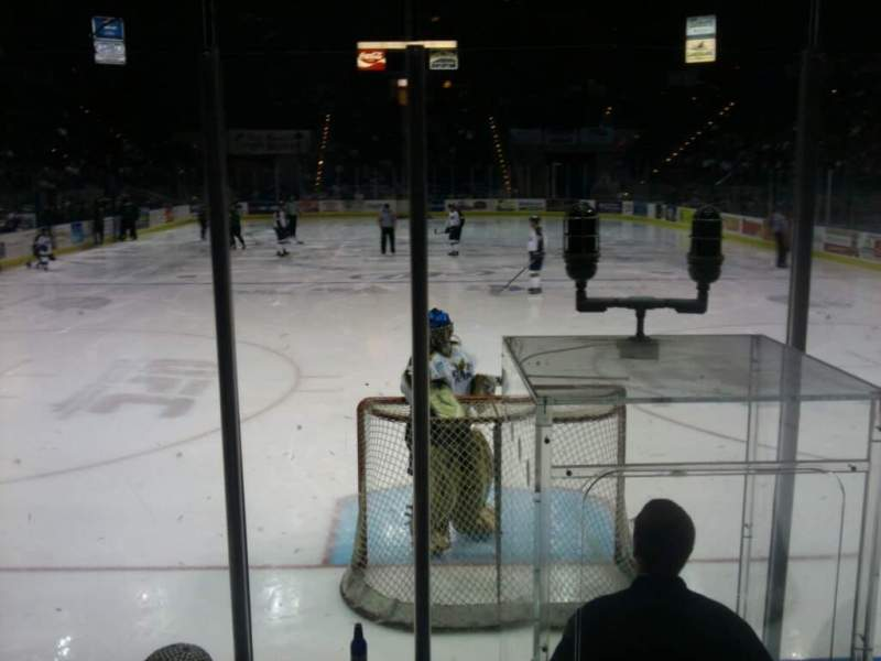 Seating view for Pensacola Bay Center Section 109 Row G Seat 4