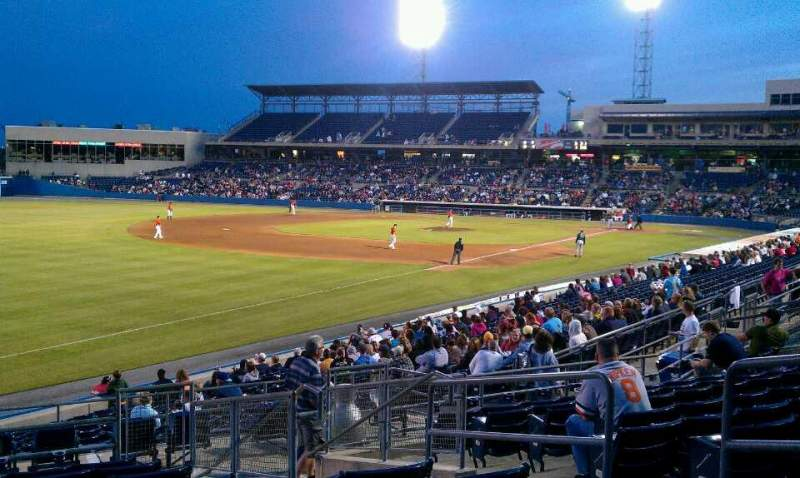 Seating view for Harbor Park Section 219 Row X Seat 5