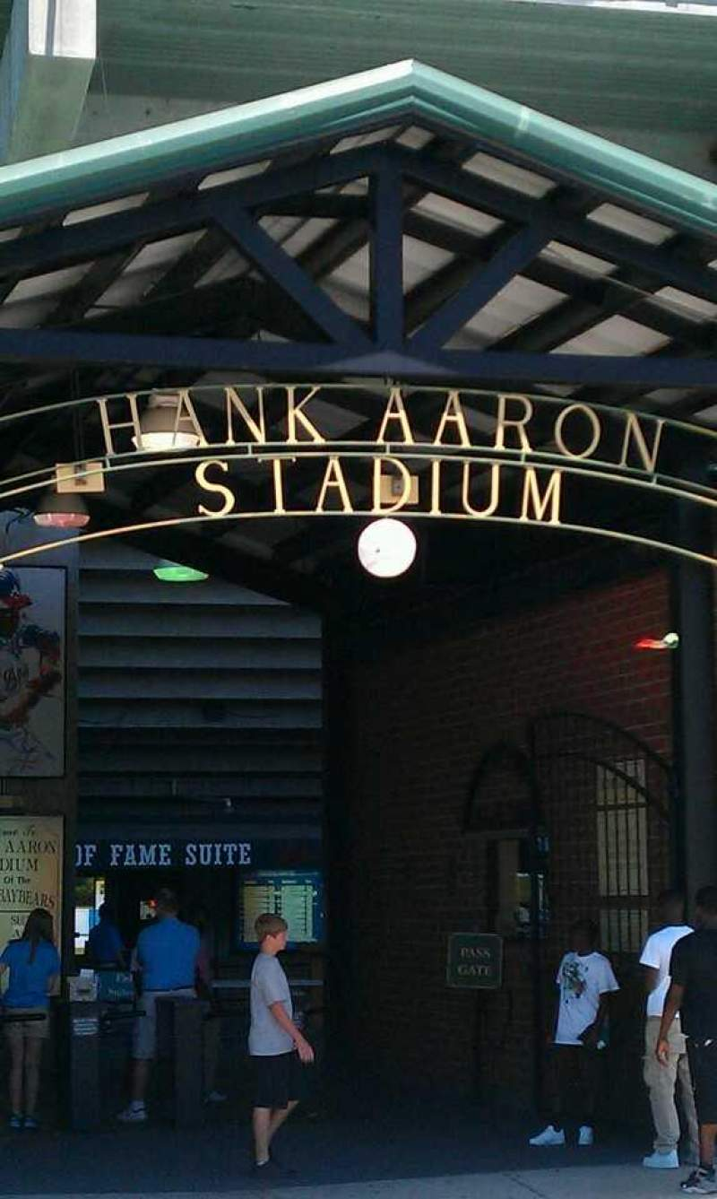 Seating view for Hank Aaron Stadium Section 110 Row 15 Seat 3