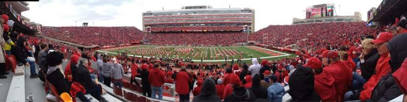 Seating view for Memorial Stadium Section 4 Row 6
