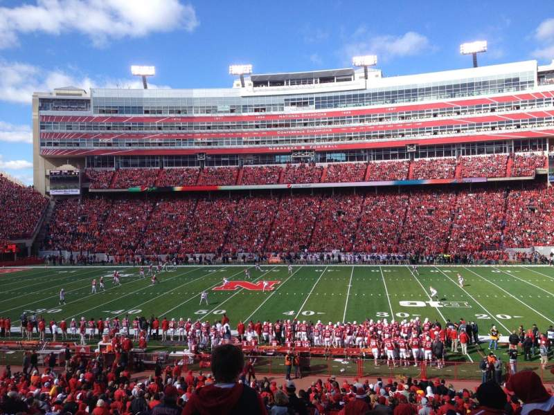 Seating view for Memorial Stadium (Lincoln)