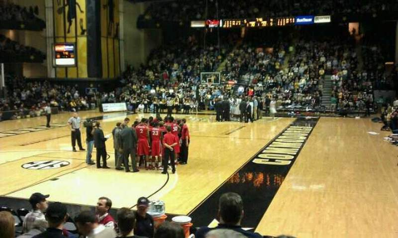Seating view for Memorial Gymnasium (Vanderbilt) Section F Row 7 Seat 10