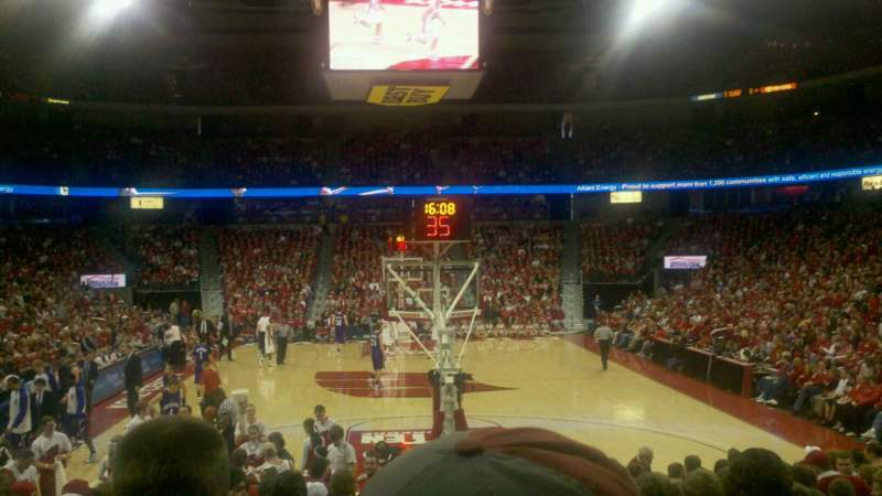 Seating view for Kohl Center Section 115 Row B Seat 11