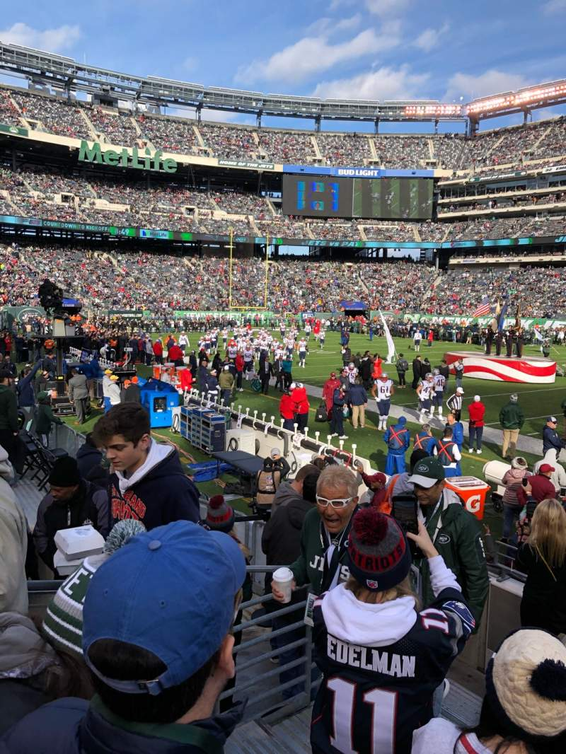 Seating view for MetLife Stadium Section 135 Row 6 Seat 27