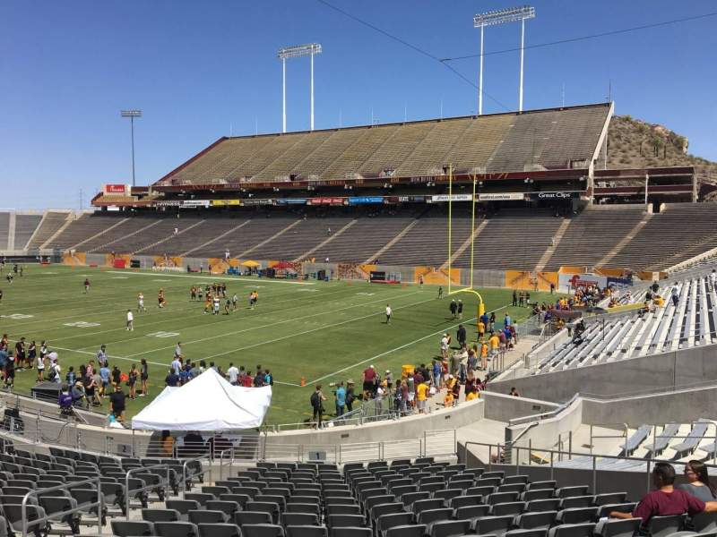 Seating view for Sun Devil Stadium Section 1 Row 25 Seat 12