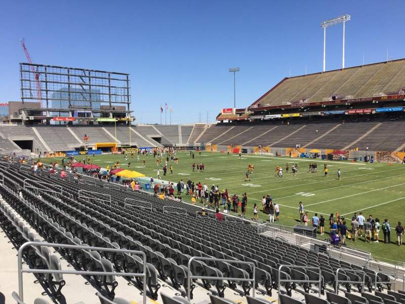Seating view for Sun Devil Stadium Section 2 Row 25 Seat 12