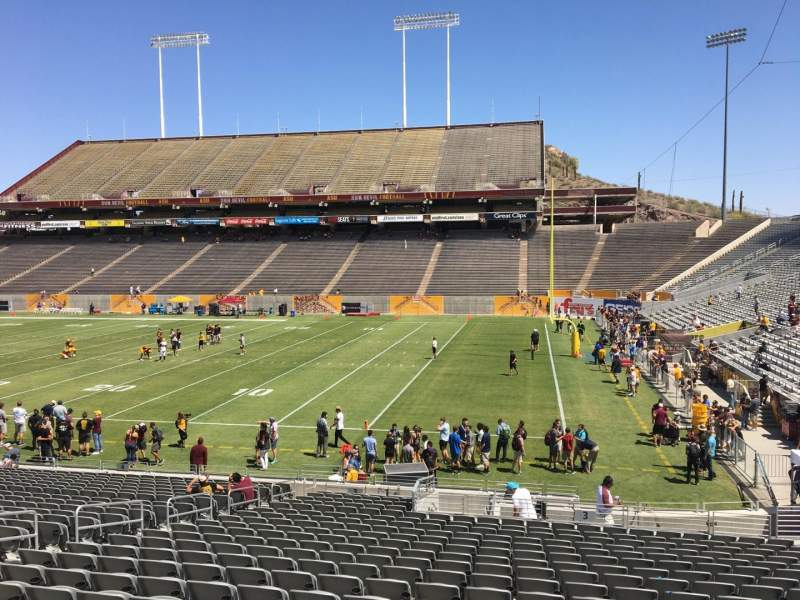 Seating view for Sun Devil Stadium Section 3 Row 25 Seat 12