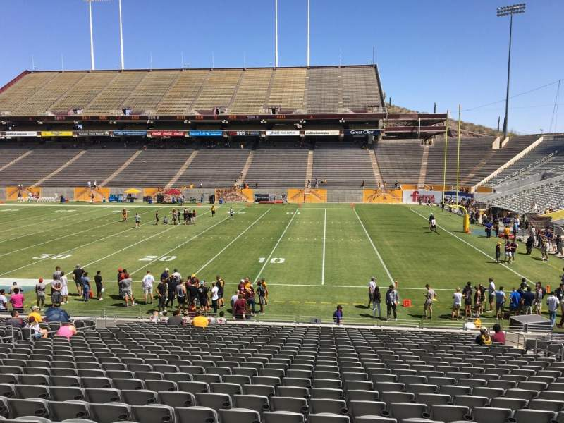 Seating view for Sun Devil Stadium Section 4 Row 25 Seat 12