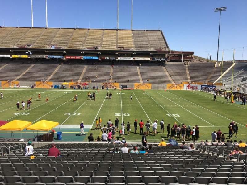 Sun Devil Stadium, section: 5, row: 25, seat: 12