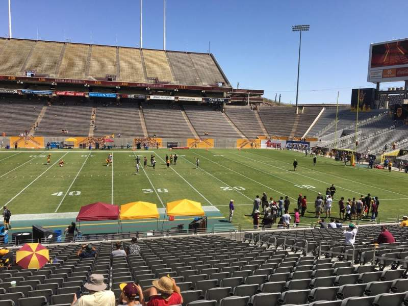 Seating view for Sun Devil Stadium Section 6 Row 25 Seat 12