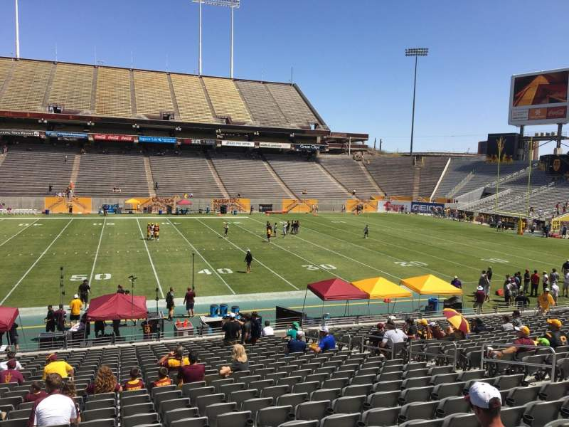 Seating view for Sun Devil Stadium Section 7 Row 25 Seat 12