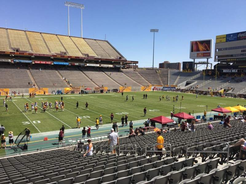 Seating view for Sun Devil Stadium Section 9 Row 25 Seat 12
