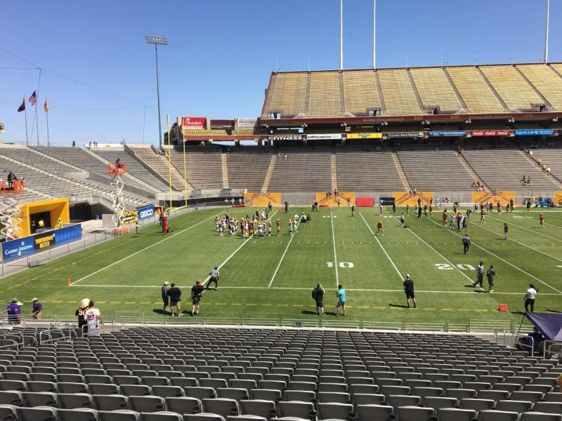 Seating view for Sun Devil Stadium Section 10 Row 25 Seat 12