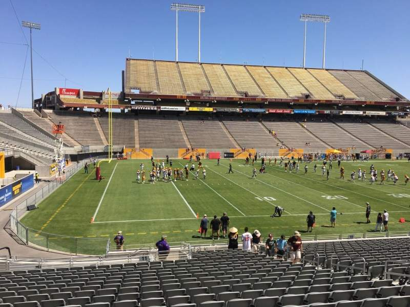 Seating view for Sun Devil Stadium Section 11 Row 25 Seat 12