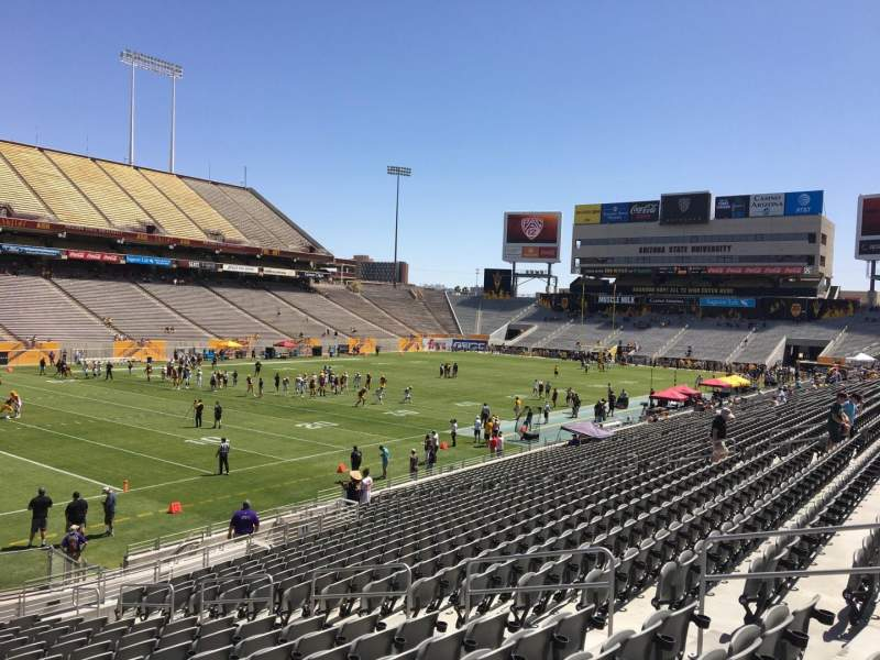 Seating view for Sun Devil Stadium Section 12 Row 25 Seat 12