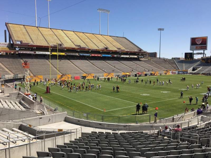Seating view for Sun Devil Stadium Section 13 Row 25 Seat 12