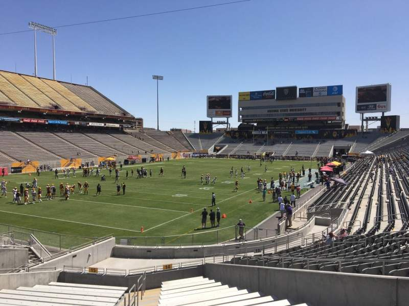 Seating view for Sun Devil Stadium Section 14 Row 25 Seat 10
