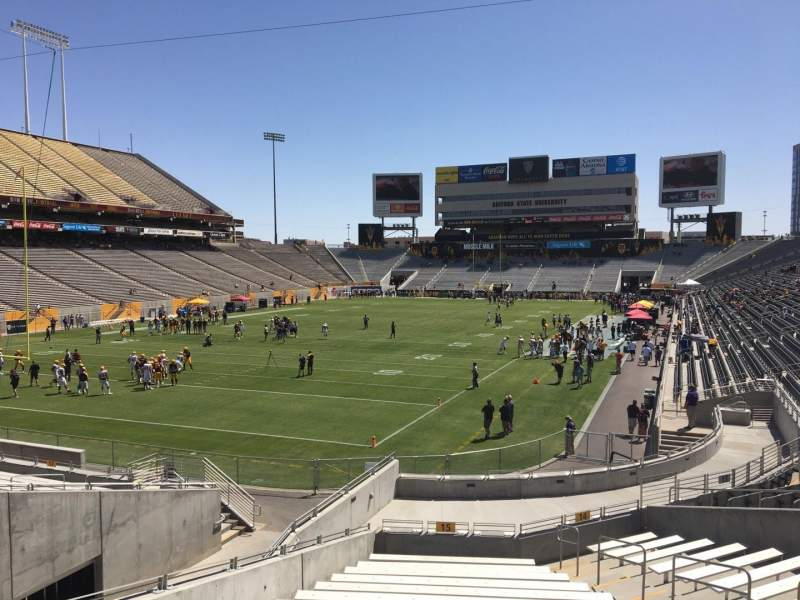 Seating view for Sun Devil Stadium Section 15 Row 25 Seat 12