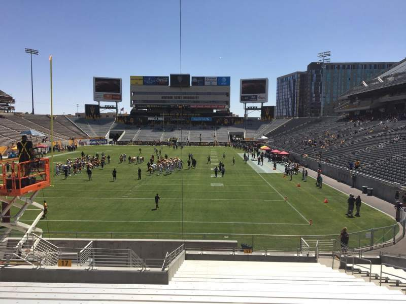 Seating view for Sun Devil Stadium Section 17 Row 25 Seat 12