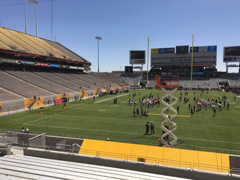 Seating view for Sun Devil Stadium Section 18 Row 25 Seat 12