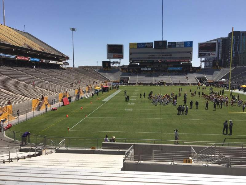 Seating view for Sun Devil Stadium Section 19 Row 25 Seat 12