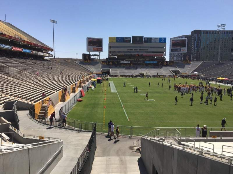 Seating view for Sun Devil Stadium Section 20 Row 25 Seat 12