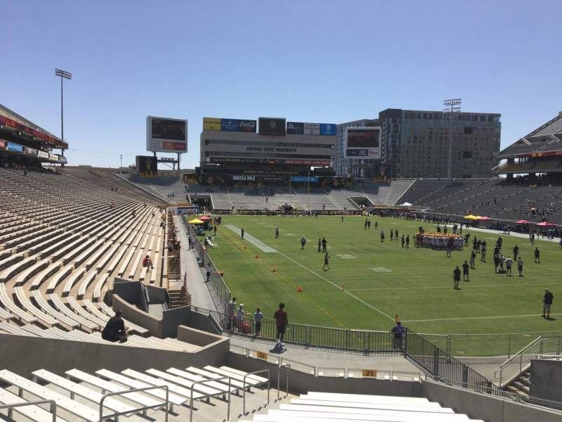 Seating view for Sun Devil Stadium Section 21 Row 25 Seat 12